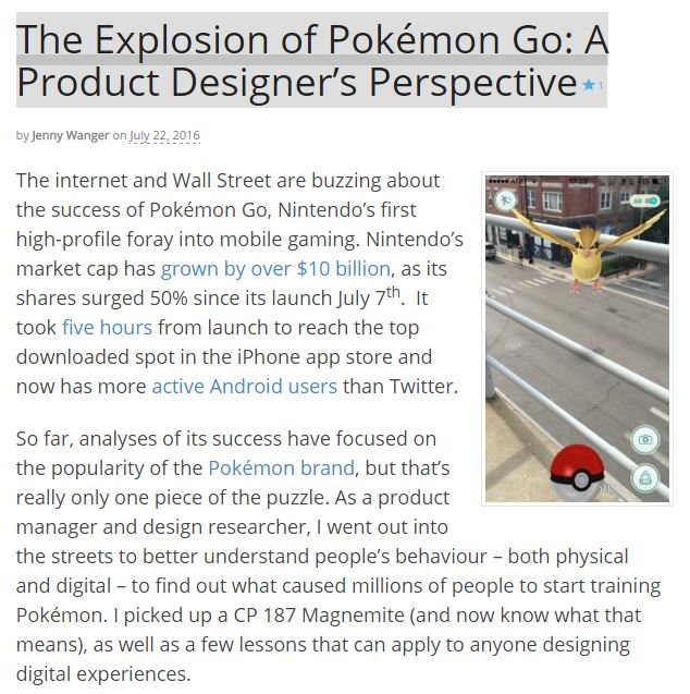the explosion of pokemon go a product designers perspective