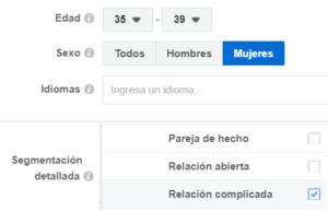 facebook-ads-segmentacion-mujeres-35-años-relacion-complicada