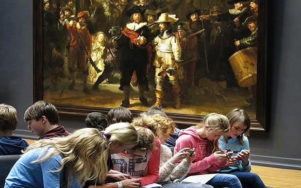 Rembrandt La ronda de noche o La ronda nocturna (en neerlandés: De Nachtwacht)