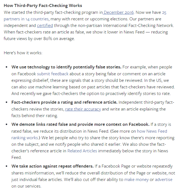 Hard Questions: How Is Facebook's Fact-Checking Program Working?