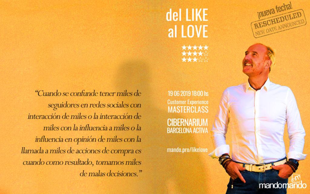 Customer Experience CX Del Like al Love / mandomando